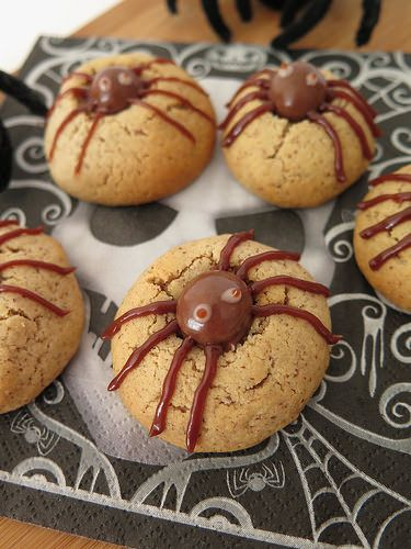 Spider cookies (Halloween)