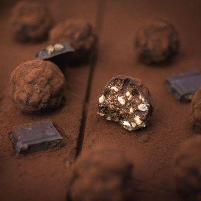 Truffes (ou rochers) au chocolat, citron, gingembre et riz soufflé