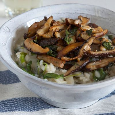 Risotto au shiitake, coco et curry