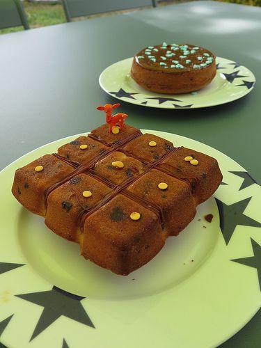 Gâteaux moelleux aux pépites de chocolat et de caramel