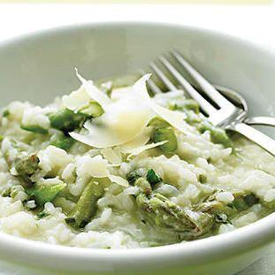 Risotto crémeux aux asperges et parmesan