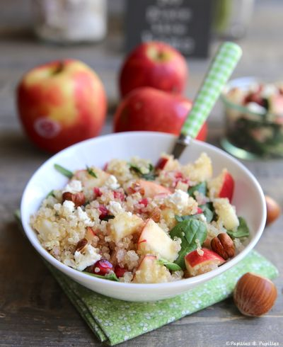 Salade de quinoa, pomme et grenade