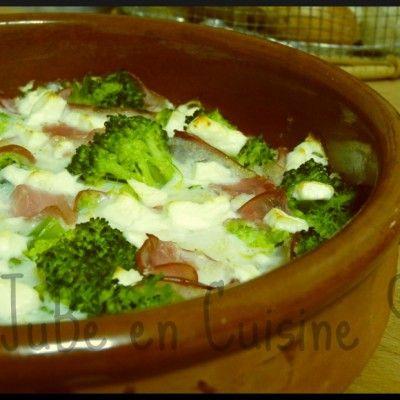 Gratin de brocolis au bacon