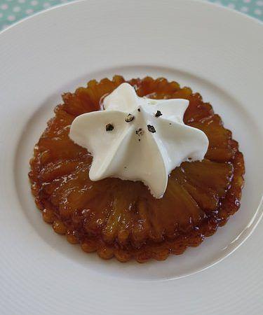 Tartelette tatin à l'ananas aux épices douces