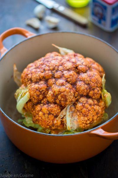 Chou-fleur rôti entier au paprika fumé