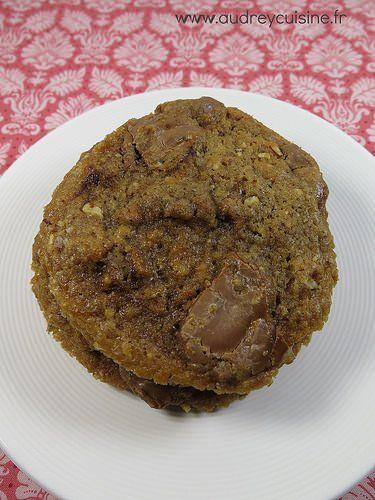 Cookies aux noisettes et au praliné