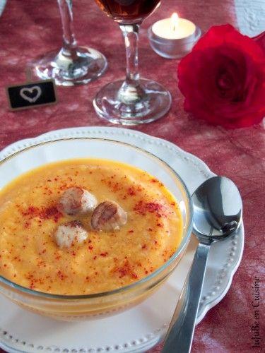 Velouté de carottes et noix de Saint-Jacques