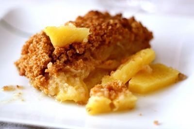 Crumble pomme et ananas