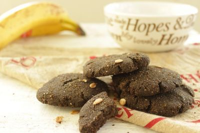 Cookies noisette & spiruline (vegan et sans gluten)
