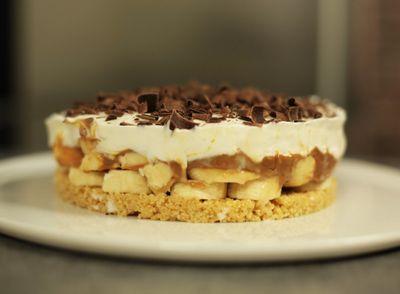 Banoffee pie ou tarte banane, caramel et chantilly