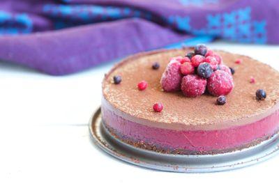 Entremet fruits rouges & chocolat vegan