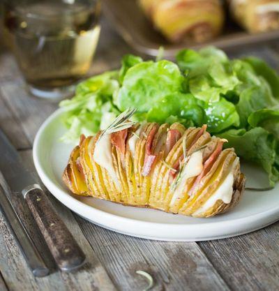 Pommes de terre rôties à la suédoise au gouda et bacon