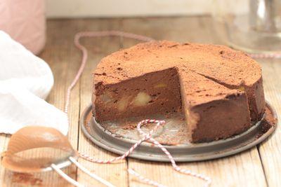 Fondant chocolat courge et poire (vegan et sans gluten)