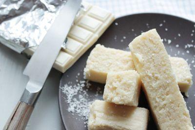 Fondant noix de coco et chocolat blanc
