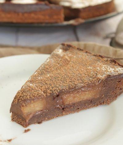 Gâteau tarte chocolat poire (sans beurre)
