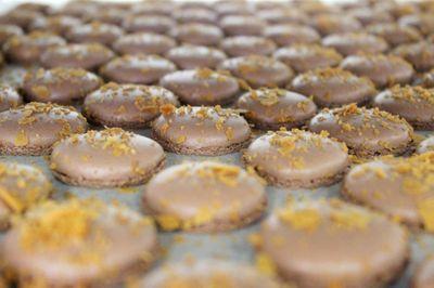 Les macarons chocolat de Valrhona