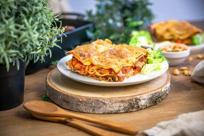 Lasagnes végétariennes à la bolognaise végétale