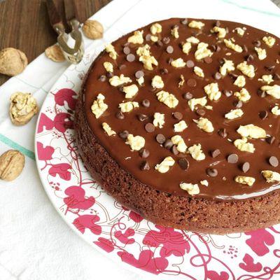 Moelleux fondant chocolat et noix (sans beurre)