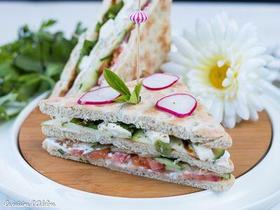 Club sandwich aux crudités