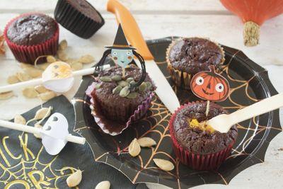 Muffin chocolat et citrouille (sans beurre)