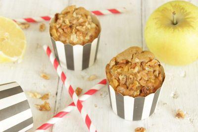 Muffin pomme, noix et citron