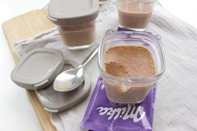Petit pot de crème au chocolat milka