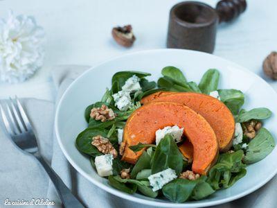 Salade d'automne (mâche, courge et noix)