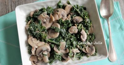 Poêlée de Kale et champignon à la crème