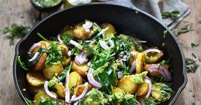 Sauté de pommes de terre au pesto d'herbes
