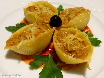 Conchiglioni farcis aux légumes