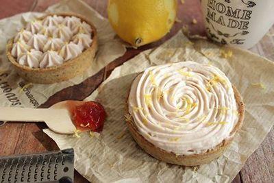 Tartelette citron groseille noisette (sans oeuf)