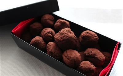 Truffes au chocolat et aux fruits de la passion