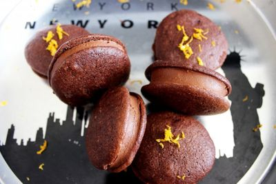 Whoopie pies au chocolat et orange
