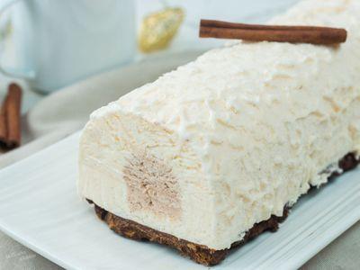Bûche glacée vanille et cannelle