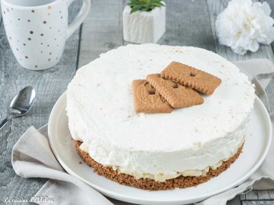 Cheesecake poire speculoos (sans cuisson)