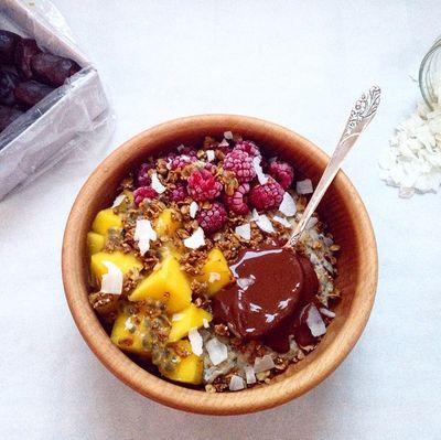 Porridge caramel-vanille
