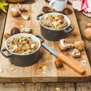 Risotto aux champignons et aux châtaignes
