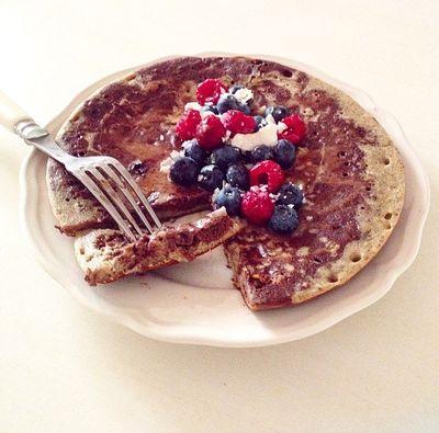 Pancake marbré chocolat-vanille