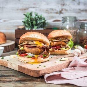 Burgers aux champignons