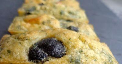 Minis cakes féta, olives et menthe