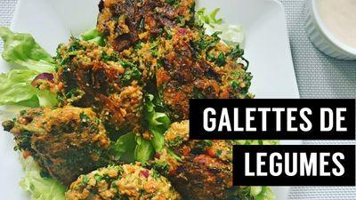Galettes de légumes (carottes, chou kale et patate douce)