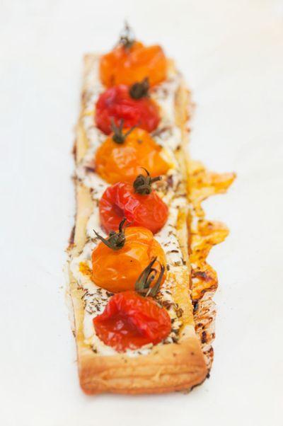 Feuilletés aux tomates cerise