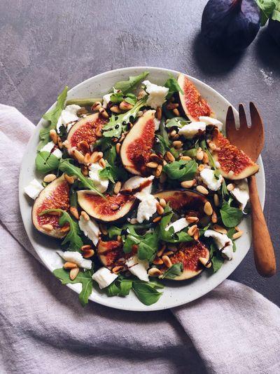 Salade italienne figues et mozzarella