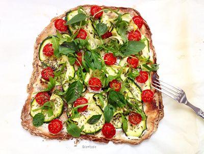 Pizza végétarienne aux légumes