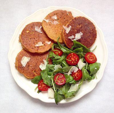 Pancakes salés parmesan et potimarron