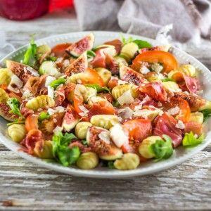 Salade de figues et gnocchis