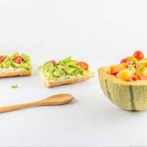 Bruschettas avocat et salade de melon