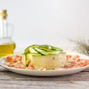 Carpaccio saumon courgette