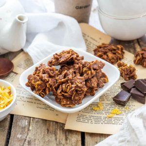 Roses des sables au chocolat au lait et à la noix de coco