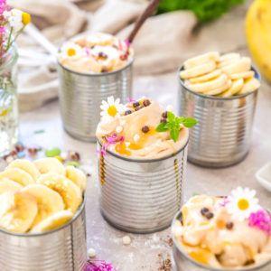 Frozen yogourts à la banane (avec ou sans sorbetière)